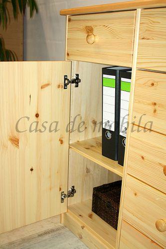Sideboard MARIO 151x89x48cm Kiefer natur lackiert Anrichte Kommode – Bild 4