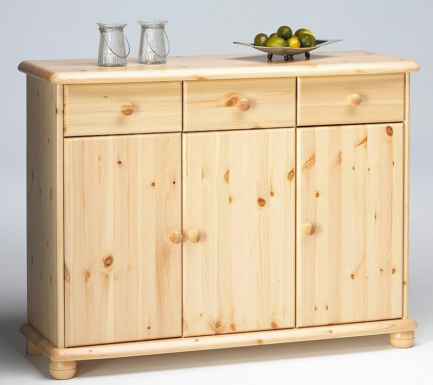 massivholz kommode kiefer lackiert anrichte flur schrank sideboard w schekommode ebay. Black Bedroom Furniture Sets. Home Design Ideas