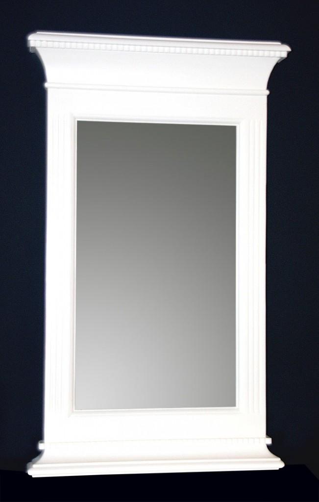 Wandspiegel MALMÖ 53x87x7cm Pinie teilmassiv antikweiß