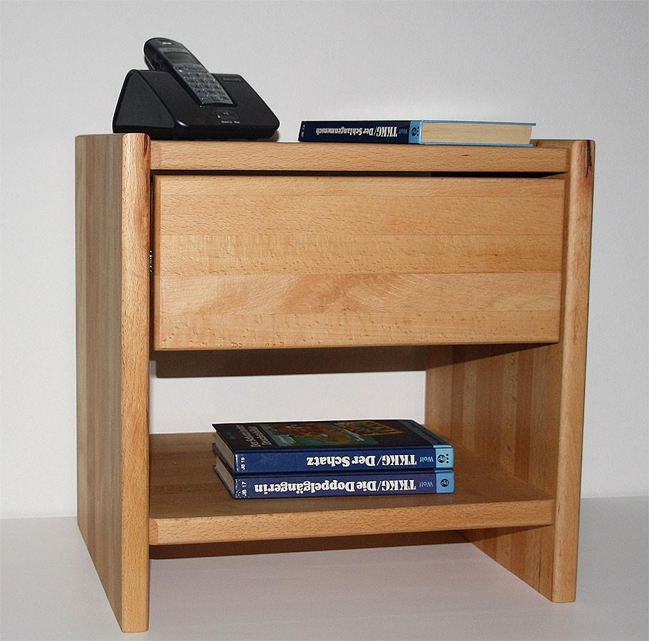 Nachttisch CAMPINO-A mit Schublade und Ablage, Buche natur geölt – Bild 7