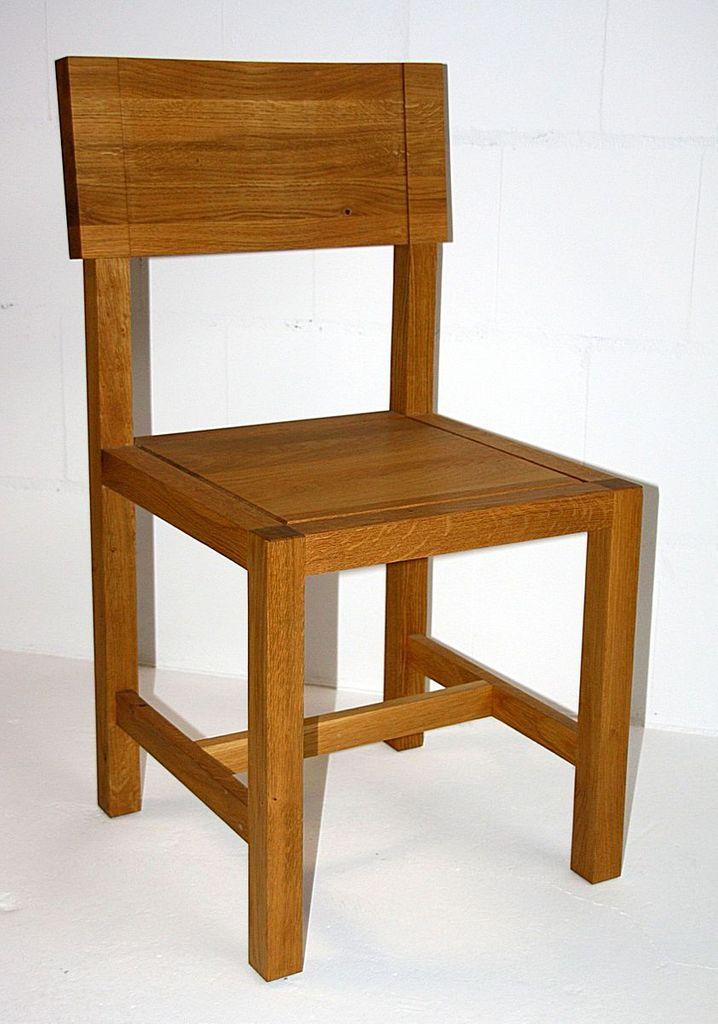 Stuhl Mit Holzsitz Eiche Geölt