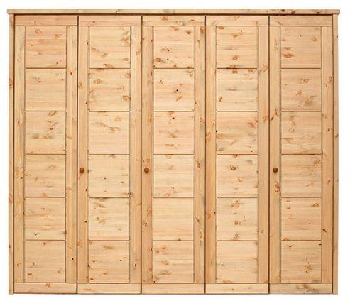 Kleiderschrank 5türig Kiefer massiv Vollholz Schlafzimmerschrank gelaugt geölt – Bild 1