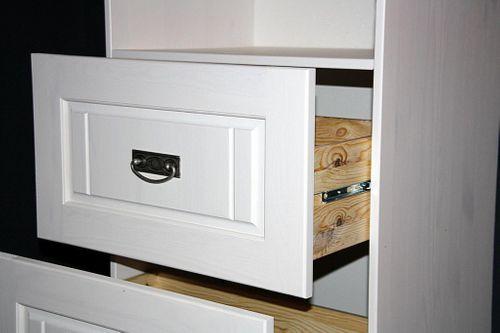 Standregal weiß gewachst Babyzimmer Regal Kiefer massiv Vollholz weiß – Bild 5
