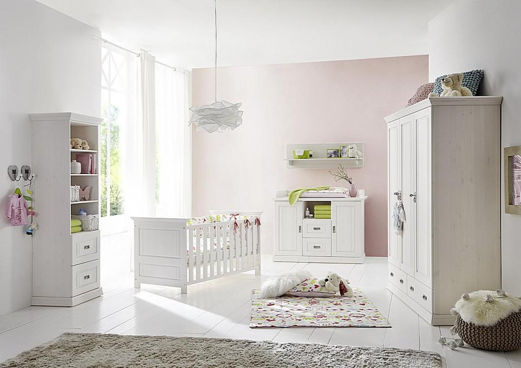 babybett 70x140 matratzenauflage h henverstellbar 3 schlupfsprossen kiefer massiv wei gewachst. Black Bedroom Furniture Sets. Home Design Ideas