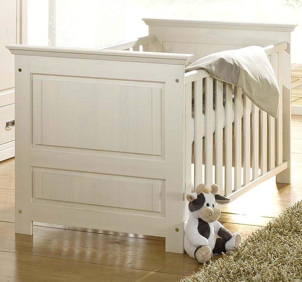 babyzimmer 6teilig kiefer massiv wei gewachst. Black Bedroom Furniture Sets. Home Design Ideas