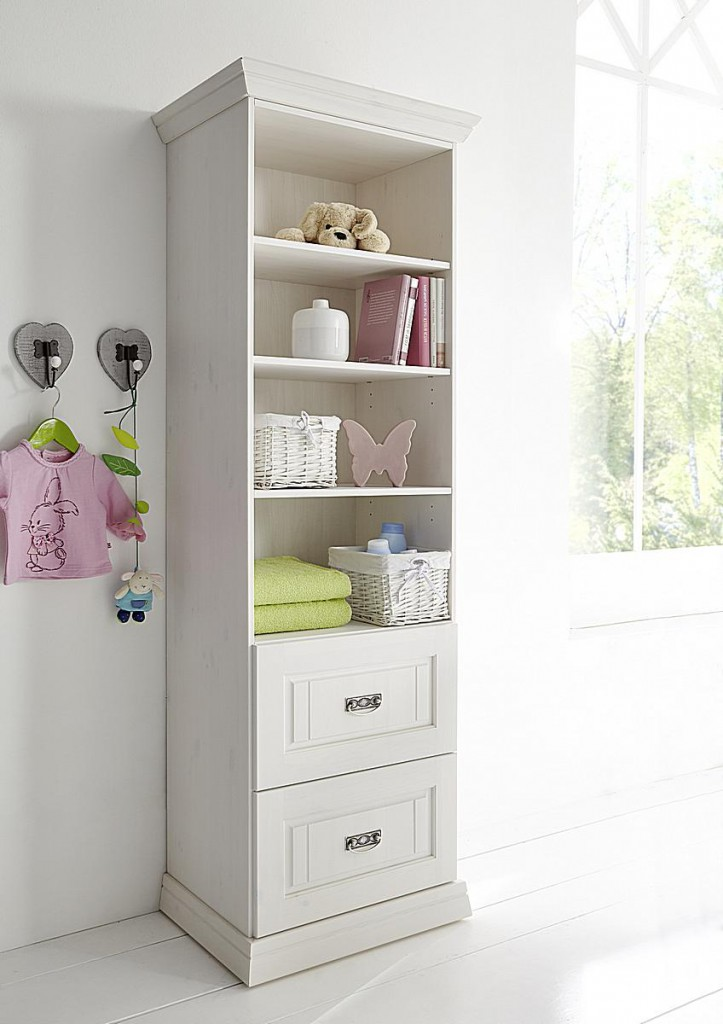 Babyzimmer 6teilig weiß komplett Kinderzimmer Set Kiefer Vollholz massiv – Bild 9