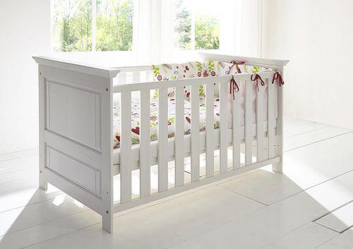 Babyzimmer 6teilig weiß komplett Kinderzimmer Set Kiefer Vollholz massiv – Bild 5