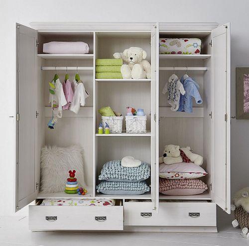 Babyzimmer 6teilig weiß komplett Kinderzimmer Set Kiefer Vollholz massiv – Bild 3