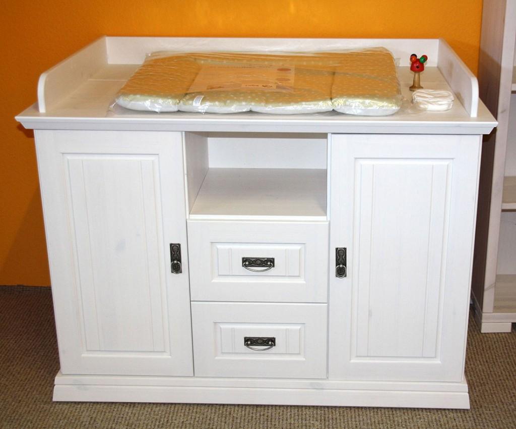 wickelkommode 132x103x80cm 2 schubladen kiefer massiv. Black Bedroom Furniture Sets. Home Design Ideas