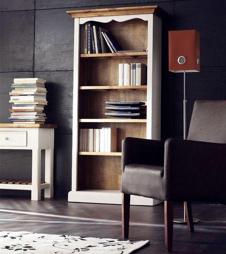 Esstisch 180x90 Tisch Küchentisch Kiefer massiv weiß honig Vintage-Look – Bild 4