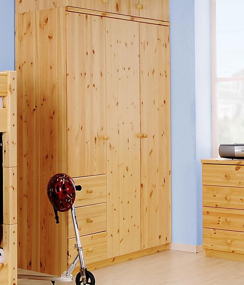 kleiderschrank 147x200x58cm 3 t ren 3 schubladen kiefer. Black Bedroom Furniture Sets. Home Design Ideas