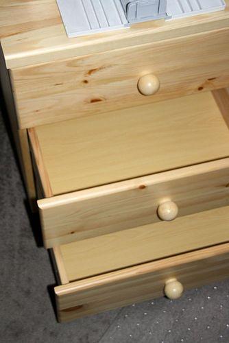 Wäschekommode Kommode Kiefer massiv Holz natur lackiert – Bild 3