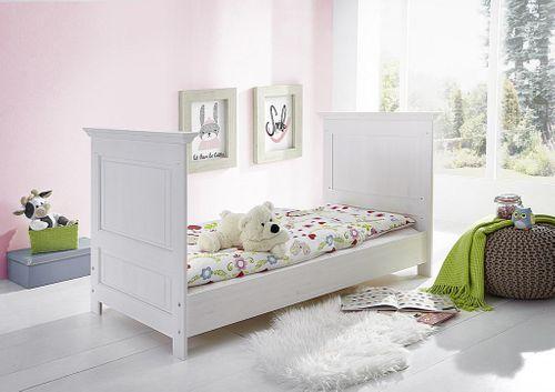 Babymöbel-Set weiß gewachst Babybett Wickelkommode Kiefer massiv Vollholz – Bild 4