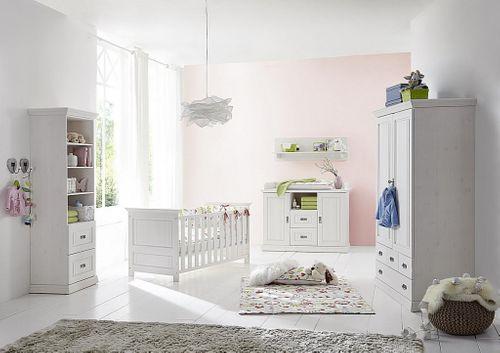 Babymöbel-Set weiß gewachst Babybett Wickelkommode Kiefer massiv Vollholz – Bild 9