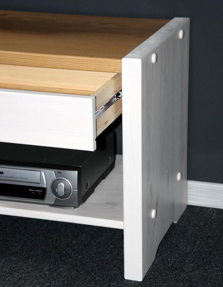 sitzbank 115x48x40cm 2 schubladen 1 ablageboden kiefer massiv. Black Bedroom Furniture Sets. Home Design Ideas