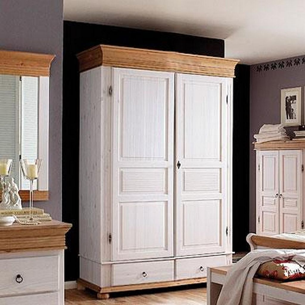 kleiderschrank 2t rig 139x200x63cm 2 schubladen kiefer. Black Bedroom Furniture Sets. Home Design Ideas