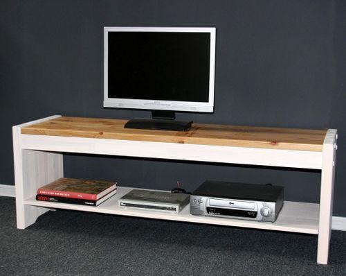 Sitzbank 140cm Kiefer massiv weiß Holzbank Vollholz Küchenbank 2farbig – Bild 1