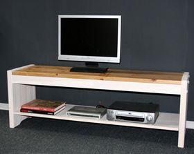 Sitzbank 140cm Kiefer massiv weiß Holzbank Vollholz Küchenbank 2farbig 001