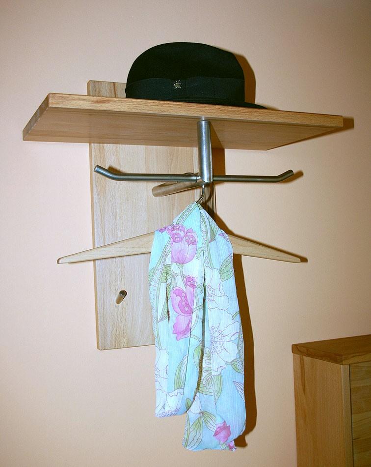 Garderobenpaneel 50x26 50x27cm 1 stange 2 haken for Garderobe hutablage