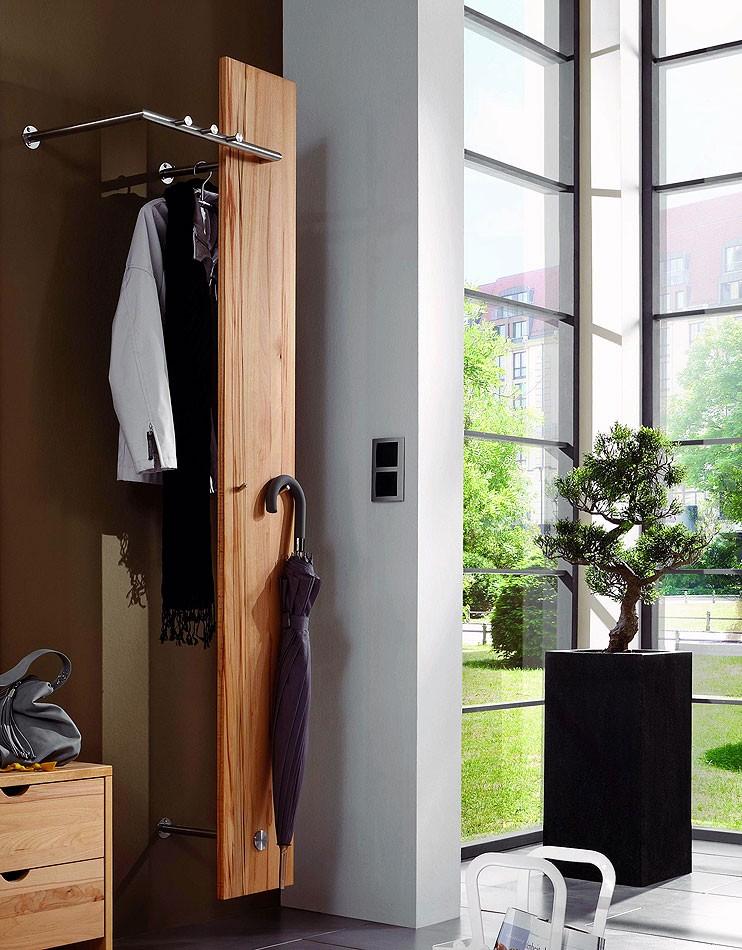 garderobenpaneel 58x185x37cm mit kleiderhaken und. Black Bedroom Furniture Sets. Home Design Ideas