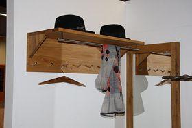 Hängegarderobe Dielenmöbel Garderobe Wildeiche gewachst geölt 001