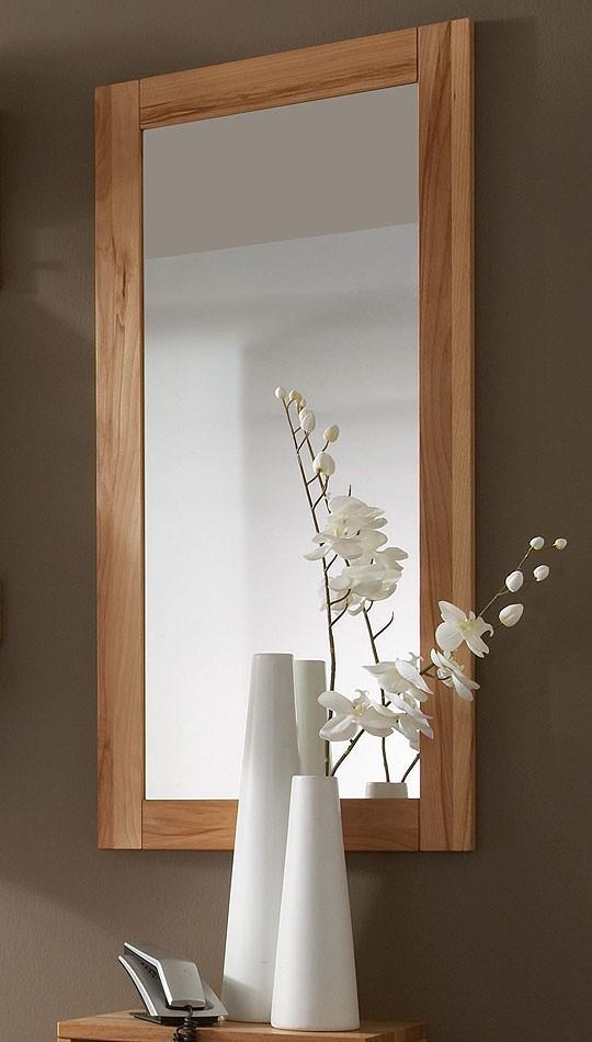 Spiegel 50x100 Wandspiegel Schlafzimmerspiegel Kernbuche massiv geölt – Bild 1