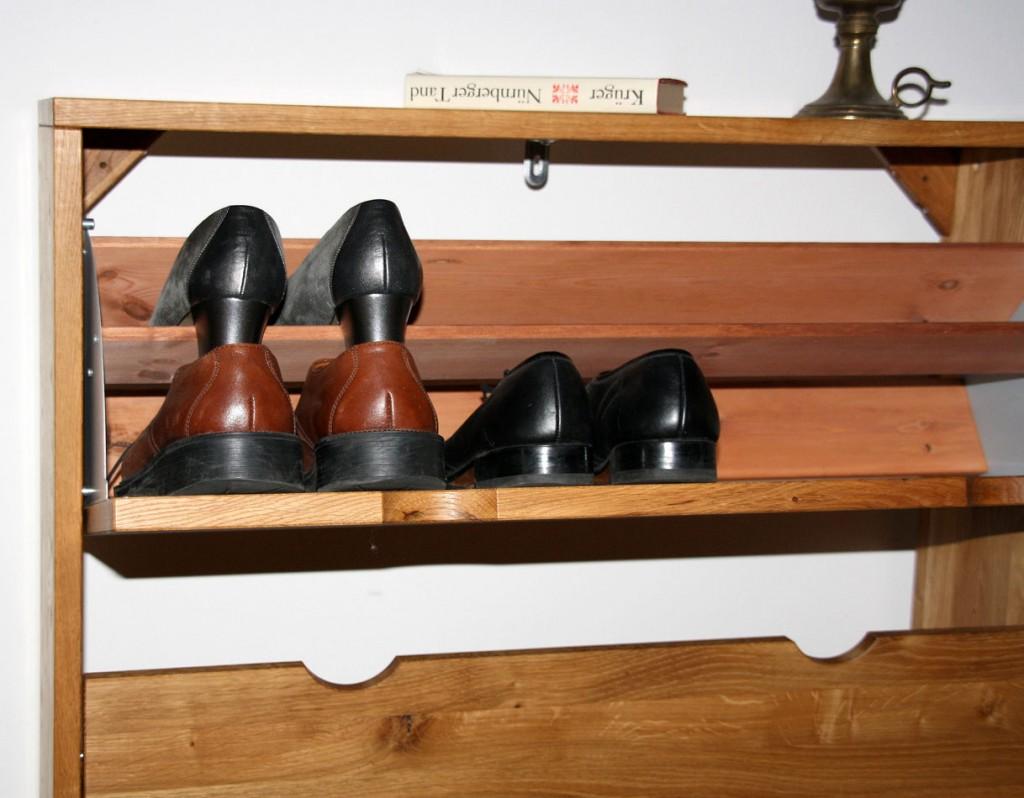 Schuhschrank Schuhkipper Kommode massiv Wildeiche geölt – Bild 2