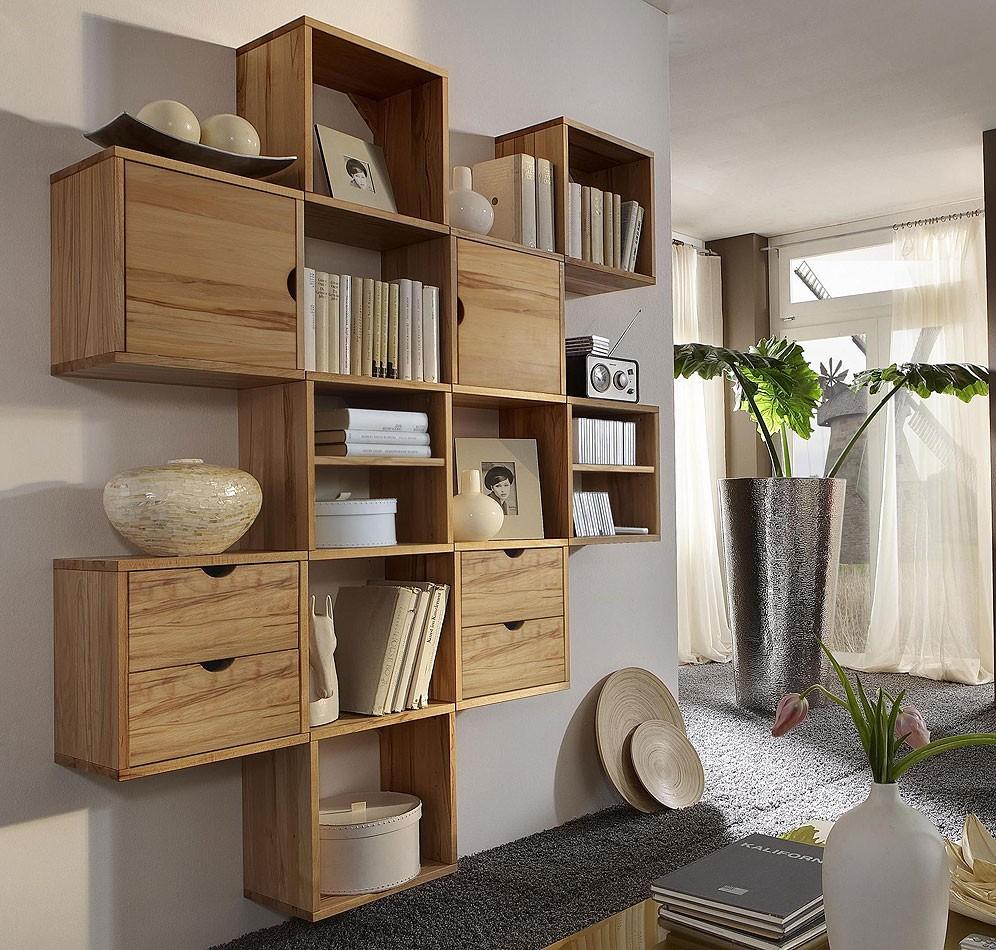 h ngekasten set mit 9 k sten kernbuche massiv ge lt. Black Bedroom Furniture Sets. Home Design Ideas