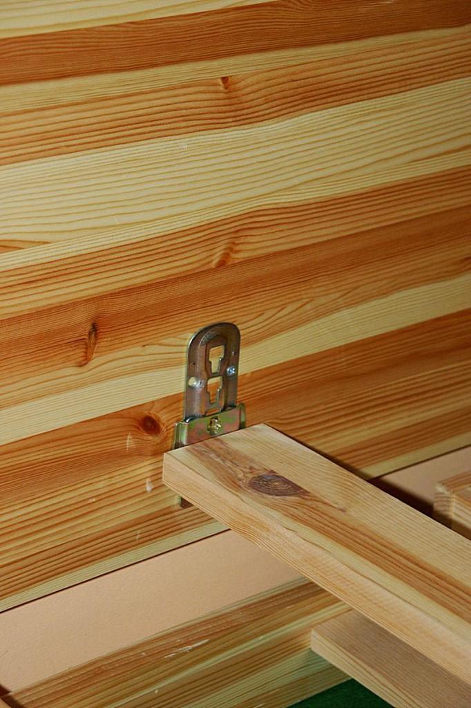 Bett 140x200 Komforthöhe Vollholz XL Schubladenbett Kiefer massiv gelaugt geölt – Bild 6