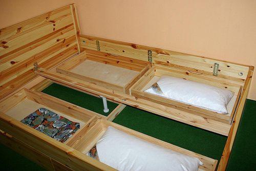 Bett 160x200 Komforthöhe Vollholz XL Schubladenbett Kiefer massiv gelaugt geölt – Bild 3