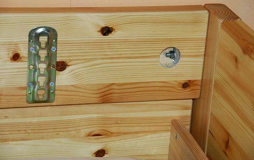 Bett 200x200 Komforthöhe Vollholz XL Schubladenbett Kiefer massiv gelaugt geölt – Bild 7