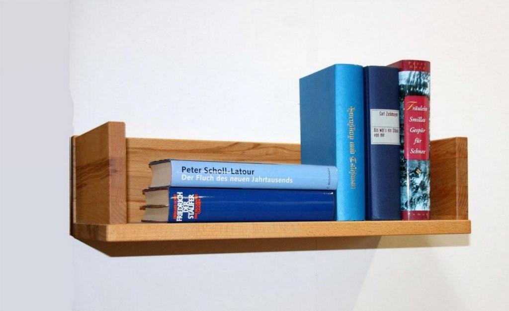 Vollholz Wandboard schmal Wandregal Kernbuche geölt – Bild 5