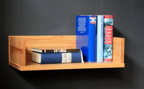 Vollholz Wandboard schmal Wandregal Kernbuche geölt – Bild 1