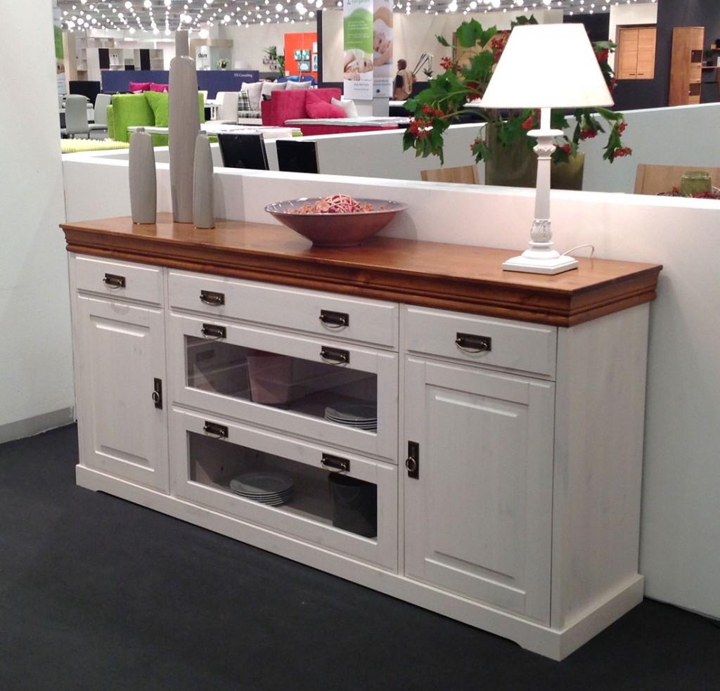 Anspruchsvoll Landhausmöbel Esszimmer Ideen Von Massivholz Sideboard Anrichte Kiefer Kommode 2farbig Weiß