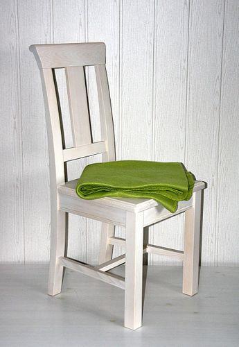 Stuhl Holzstuhl Kiefer Esszimmerstuhl Vollholz massiv weiß – Bild 8