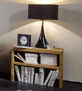 Nachttisch 40cm Nachtkonsole Vollholz massiv rustikal antik gewachst Taiga 001