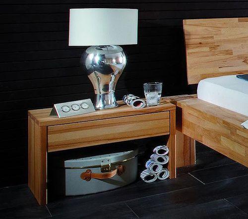 Vollholz Nachttisch Nachtkonsole Nachtkommode Buche massiv Holz – Bild 1