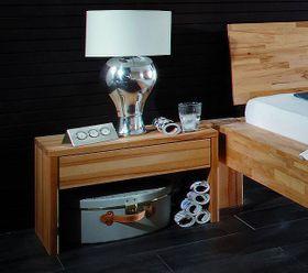 Vollholz Nachttisch Nachtkonsole Nachtkommode Buche massiv Holz 001