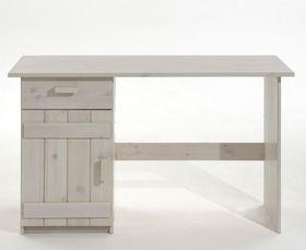 Kinder Schreibtisch weiß lasiert Kiefer massiv Holz Möbel PC-Tisch