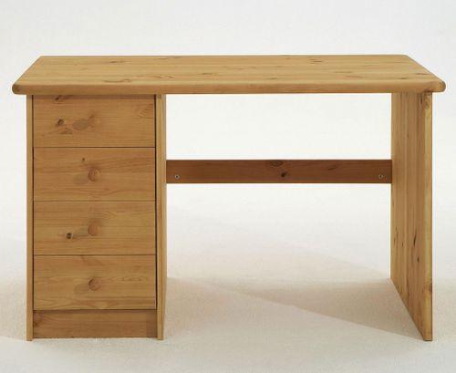 Kinder Schreibtisch Kiefer massiv gelaugt geölt Holz Möbel PC-Tisch