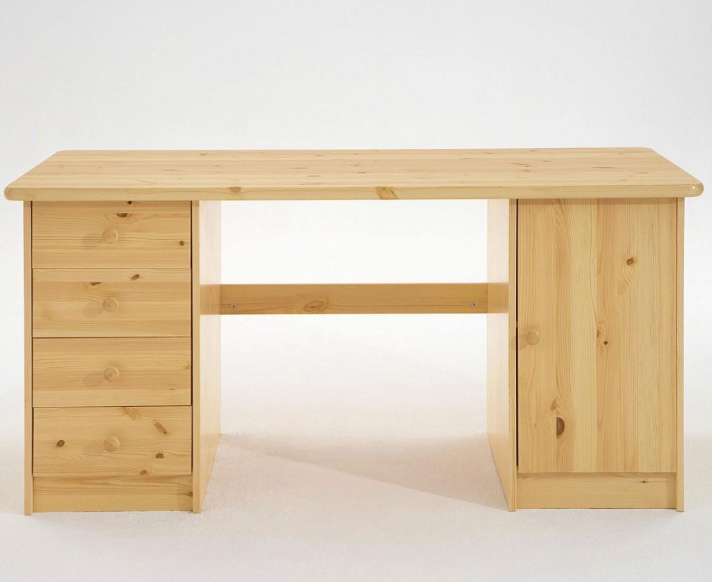 Wunderbar Schreibtisch Kiefernholz Massiv Natur Lackiert Kiefer Möbel PC Tisch