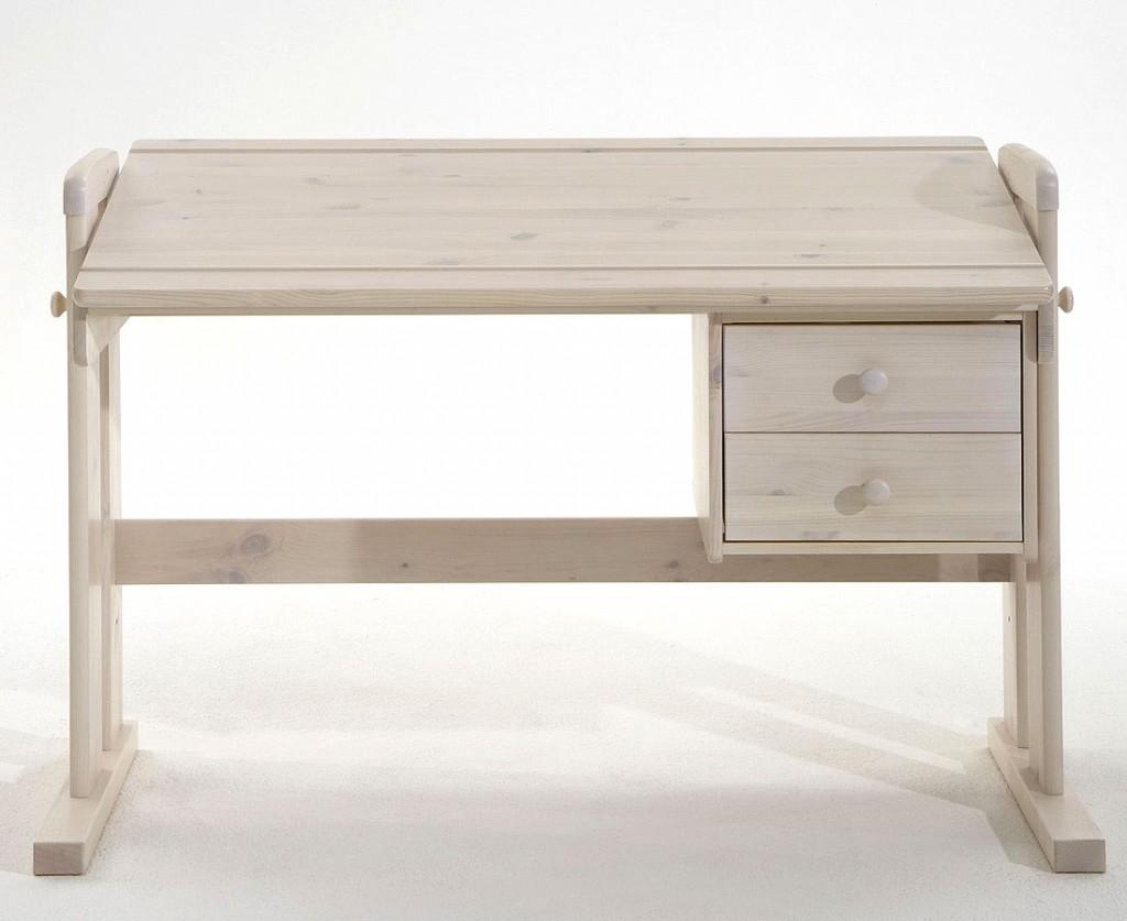 schreibtisch 121x62x60cm 2 schubladen platte verstellbar. Black Bedroom Furniture Sets. Home Design Ideas
