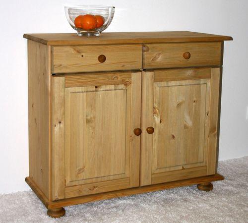 Sideboard Anrichte Kommode Wäschekommode Kiefer massiv Holz gelaugt geölt – Bild 3