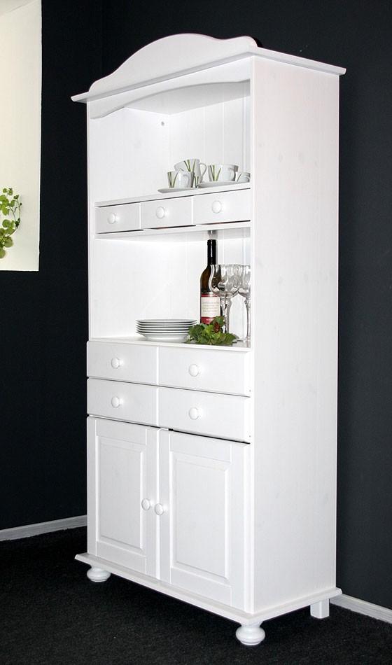 Küchenschrank weiß  Küchenschrank weiß Küchenregal Kiefer massiv Holz