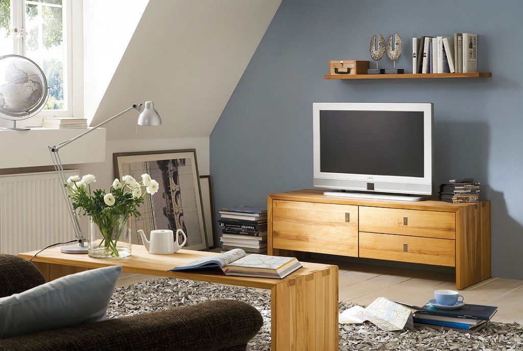 tv lowboard 92x42x42cm kernbuche massiv ge lt. Black Bedroom Furniture Sets. Home Design Ideas