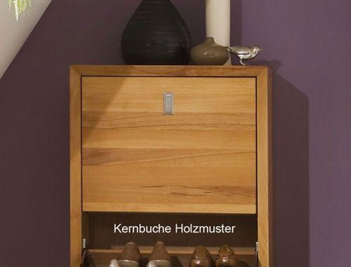 Sitzbank KERNBUCHE Massivholz Dielenbank natur geölt Holzbank mit 2 Schubladen  – Bild 3