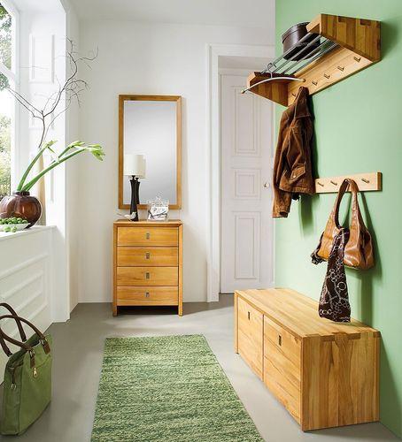 Garderoben-Set KERNBUCHE massiv 5teilig Dielenmöbel Massivholz – Bild 1