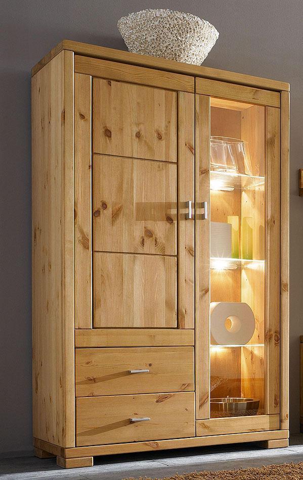 Wohnzimmermöbel komplett Vollholz Wohnwand Kiefer massiv gelaugt geölt – Bild 2