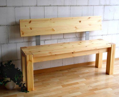 sitzbank 160x86x47cm mit r ckenlehne kiefer massiv gelaugt ge lt. Black Bedroom Furniture Sets. Home Design Ideas