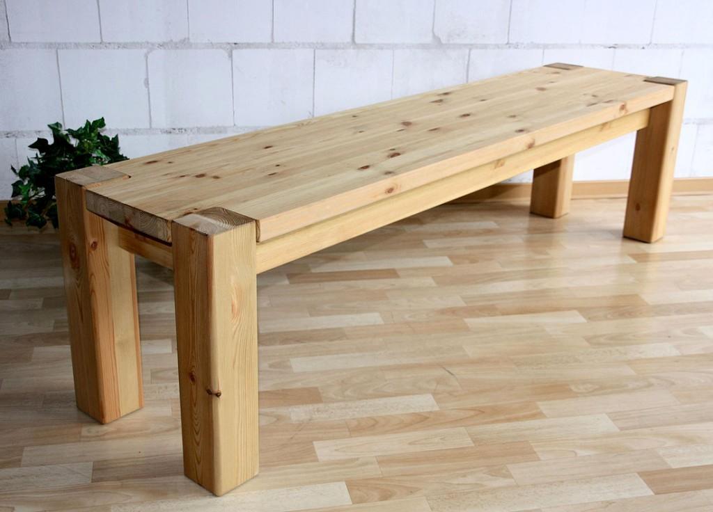 sitzbank 160x48x43cm kiefer massiv gelaugt ge lt. Black Bedroom Furniture Sets. Home Design Ideas